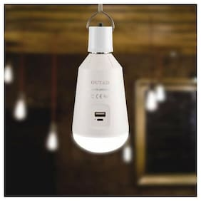 OUTAD Solar LED Bulb Portable 7W E27 Emergency Lamp with Battery Power Bank BE