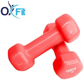 OX Fit Fitness Neoprene Vinyl Dumbbell set ( Set of 2 , 1 kg )