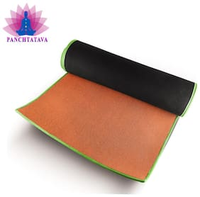 Panchtatava EVA Acupressure Yoga & Exercise Mat with Belt & Carrying Bag (6mm Thick, Orange)