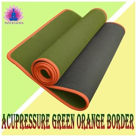 Panchtatava EVA Acupressure Yoga & Exercise Mat with Belt & Carrying Bag (4mm Thick, Green)
