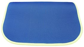 Panchtatava SGS Certified Yoga & Exercise Mat with Belt & Carrying Bag_Weavy Blue Base with Neon Green Border-(4mm Thick Luxurious Yoga Mat)