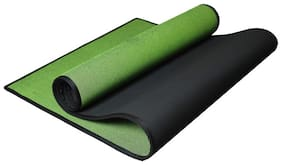 Panchtatava SGS Certified Yoga Mat with Belt & Carrying Bag Thick Green Base WithBlack Border-(Acupressure _4mm Exercise Mat)
