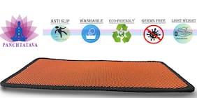 Panchtatava EVA Acupressure Yoga & Exercise Mat with Shoulder Strap & Carrying Bag (6mm Thick_Orange:Black Border)