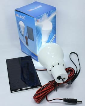 Paranormal Ghost Hunting Solar Powered Light Bulb Barn Tent Camping Light