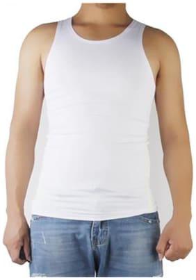 Phenovo Mens Sleeveless Singlet Vest Top T Shirt Tank Athletic Gym Wear Size M White