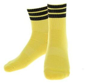 Phenovo Stripe Sports Running Football Soccer Elasticity Short Socks Yellow