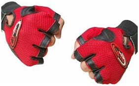 Pickadda Leather Multipurpose Gym Gloves With Padded Palm Support & Net Upside Unisex