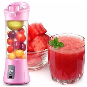 PICKADDA Multifunction Mini USB Electric Fruit Juicer/Portable Usb Juicer Blender 380ml Bottle With Rechargeable Power Bank & Usb Cable (Colour May Vary)