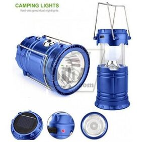 Solar Rechargeable Led Camping Lantern Lamp Light Emergency Light (Solar/ USB Charged For Travel Camping) - Assorted Colors