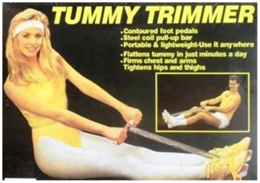 Pickadda Tummy Trimmer Ab Exerciser Double Spring  Black  Unisex