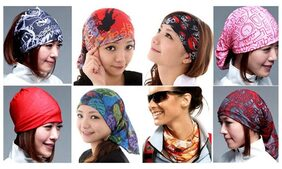 Unisex Yoga Hair Band/sports Headband Anti-slip Elastic Rubber Multipurpose Headband (multicolor)