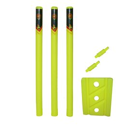 Planet of Toys T20 Special PVC Plastic Cricket Stump Set, Wicket Set for Kids