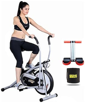PLATINUM GYM BIKE HX300  || MOVING HANDLE || BONUS SWEAT BELT AND TUMMY TRIMMER