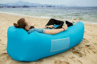 Portable Inflatable Lounger Air Sofa Outdoor Picnic Beach Mattress Mat Lazy Bed