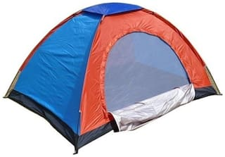 Portable Tent Adventure Foldable Instant Camping Family Camp Home Tent - For 2 Persons (Multicolour)