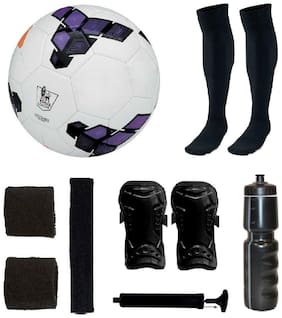 Premier League Purple Football (Size-5) with 5 Other items