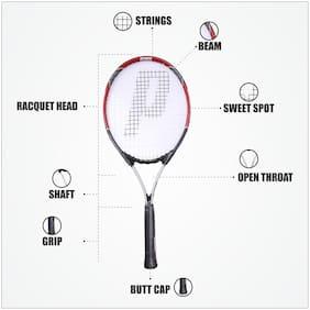Prince Tennis Racket Wimbledon Tournament II (Red) - 7T27L295 - Strung