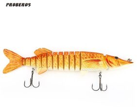Proberos Artificial 13 Sections Big Pike Fishing Lure Crankbait # International Bazaar