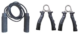 Prokyde Bolt Skipping Rope and Solid Power Grip Combo