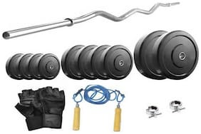Protoner 12 kg With 3 ft Curl Rod Home Gym Package For Beginners-Multicolor