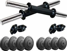 Protoner 3 in 1 Adjustable Dumbbell Set 20 kgs , can be used as Pair of 5kgs, 7kgs & 11kgs
