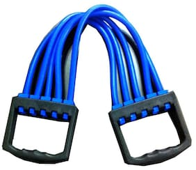 Protoner Chest Expander With Latex Tube-Black And Blue
