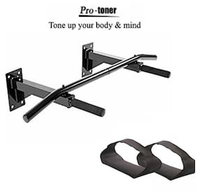 Protoner Wall Mounting Chin up Bar with Ab Straps