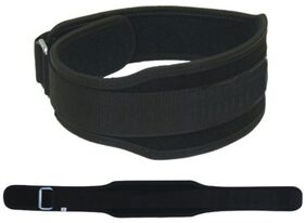 Protoner Weight Lifting Belt With Strap-Black (Size-S)