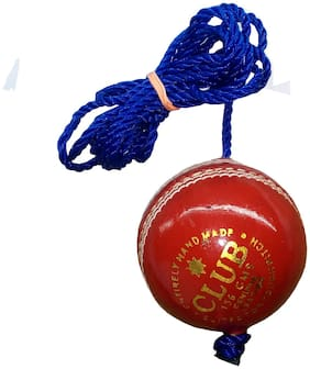 PSE Priya PSE Priya Sports Leather Club Practice Hanging Cricket Ball Red