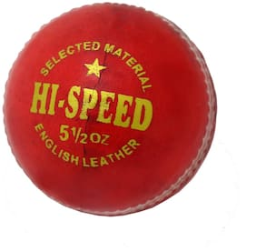 PSE Priya Sports Hi-Speed First Grade Alum Tanned 4pc Construction Leather Cricket Ball Red Pack of 1