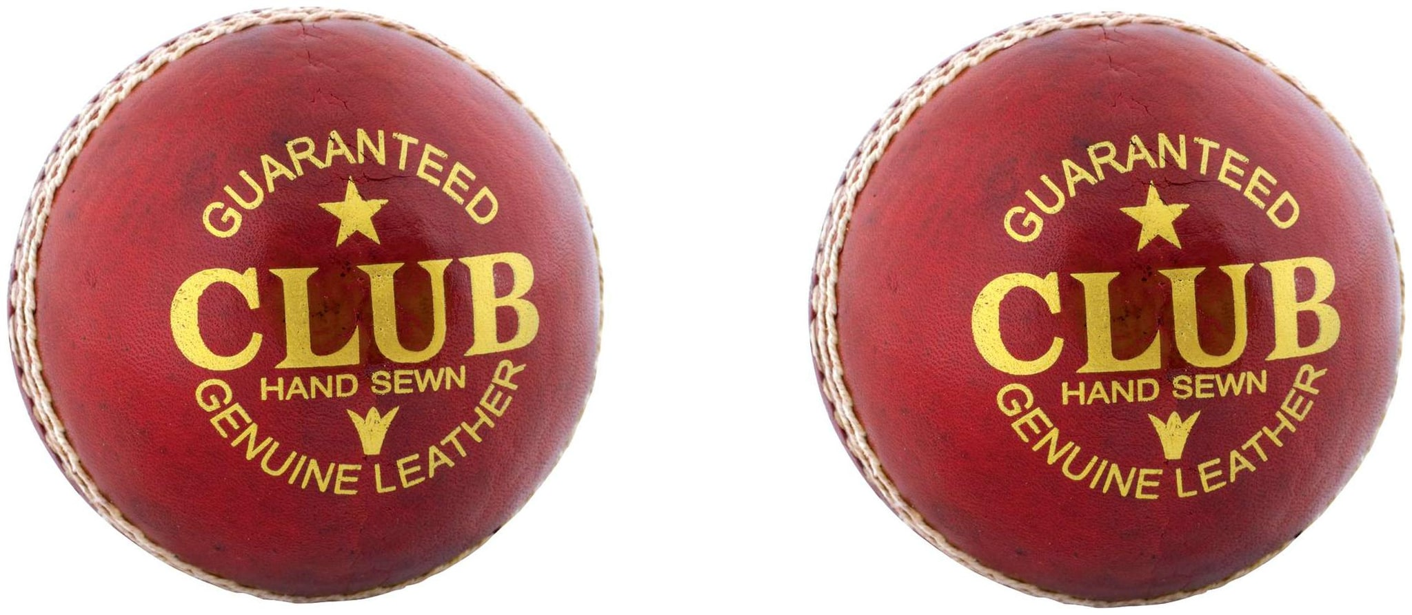 PSE Priya Sports Leather Club Cricket Ball Red Pack of 2  2Part  by Priya Sports Industries