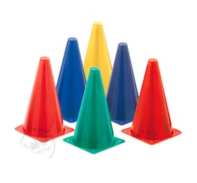 PSE Sports 12 Inch Agility Cone Marker Set (Pack of 15)