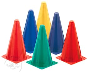 PSE Sports 12 inch Agility Cone Marker Set (Pack of 5)