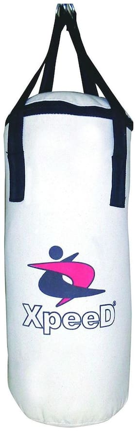 Punching Bag In White Canvas Unfilled 24 inch (2 ft Long)