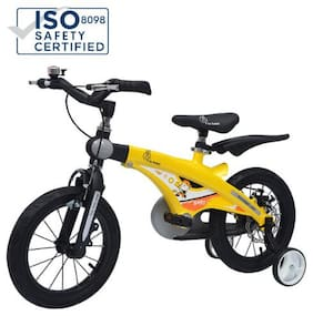 R for Rabbit Tiny Toes Jazz Bicycle- The Smart Plug and Play Kids Cycle (14 inch/T - For Kids 3-5 Years) Yellow