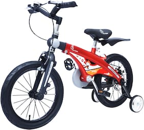R for Rabbit Tiny Toes Jazz Bicycle for Kids - Smart Plug & Play Kids Cycle (16 inch/T - for Kids 4 Years to 7 Years) (Red)
