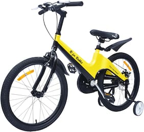 R for Rabbit Tiny Toes Rapid Bicycle for Kids - Smart Kids Cycle with Plug and Play for Kids 5.1 Years to 8 Years (20 inch/T) (Yellow Black)