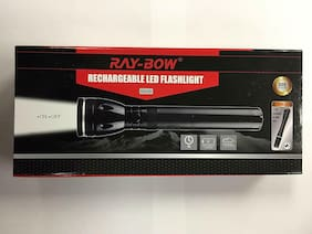 Ray-Bow GG-2D 300-Lumens Rechargeable LED Flashlight + 1 Led Penlight, 100-240V
