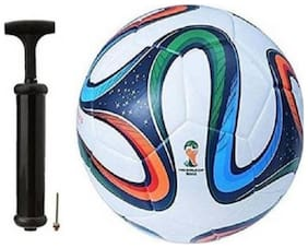 RDS Club Combo Four Color Football With Air Pump  Football Kit