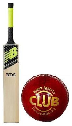 RDS DC 80 Combo English Willow Cricket Bat With Leather Ball