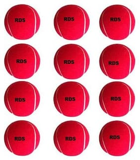 RDS Heavy Duty Red Color Tennis Ball ( Pack Of 12 )