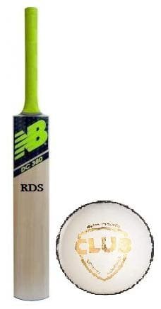 RDS NB Thick Edge English Willow Combo Cricket Bat With Leather Ball