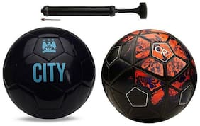 RDS Vice Black + CFR 7  With Durable Air Pump Football Combo Kit