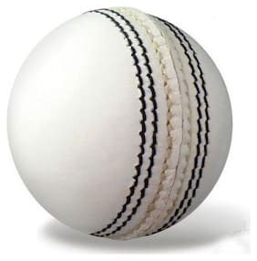RDS White 4 Piece Cricket Match Leather Ball