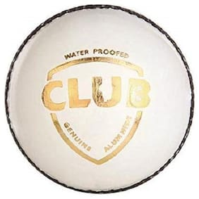 RDS White Club 2 Piece Leather Cricket Ball