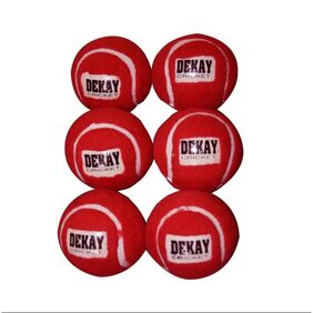 Red Tennis Cricket Ball Pack of 6