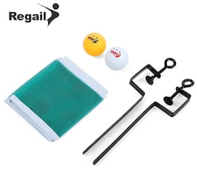 REGAIL Training Competition Ping Pong Ball Net Fix Equipment Practical Table Tennis Set # International Bazaar