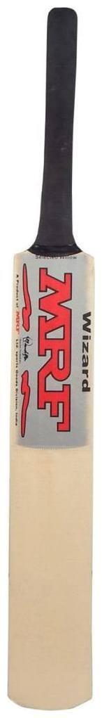 RetailWorld MRF Silver Sticker Poplar/Popular Willow Cricket Bat (For Tennis Ball) Size-6 (For Age Group 11-13 Yrs)