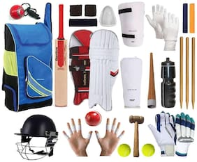 RetailWorld Kashmir Willow Cricket Kit For Boys- Set of 20 items