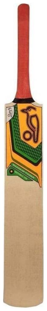 RetailWorld KOOKABURRA Max Power Sticker Poplar/Popular Willow Cricket Bat (For Tennis Ball) Full Size (For Age Group 15 Yrs & Above)